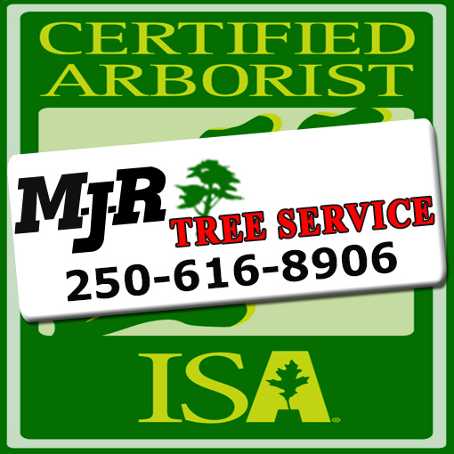 MJR Tree Service Swinging Banner Logo Victoria Duncan Nanaimo Courtenay Campbell River