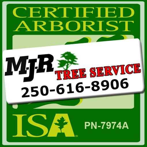 MJR Tree Service Swinging Banner Logo Victoria Duncan Nanaimo